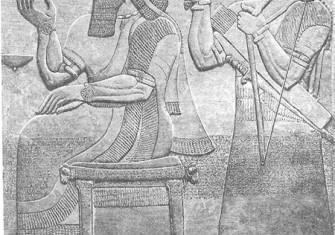 Ashurnasirpal on the throne