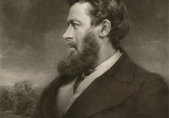 Walter Bagehot, mezzotint by Norman Hirst, 19th century