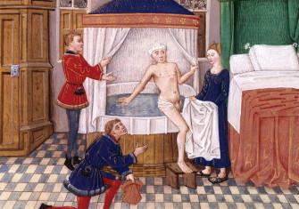 'The Bath', from Valerius Maximus' Facta et dicta memorabilia, 15th century, French.