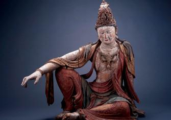 Seated Bodhisattva, Avalokiteśvara, or Guanyin, China, 11th century.