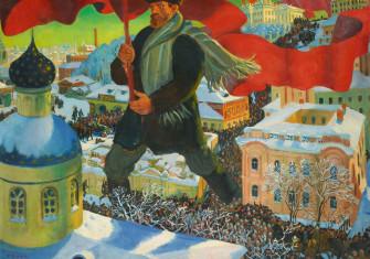 Bolshevik (1920) by Boris Kustodiev.