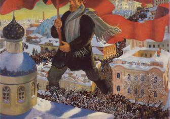 "Boris Kustodiev's 1920 painting ""Bolshevik"""