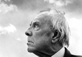 Head in the clouds: Jorge Luis Borges in Palermo, Sicily, 1984.