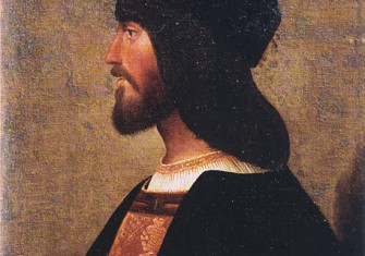Profile portrait of Cesare Borgia in the Palazzo Venezia in Rome, ca. 1500–10