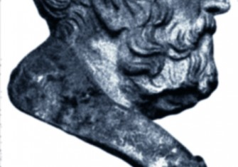 """Carneades of Cyrene (c. 214-129 B.C.), a critic of Stoicism who was ordered to leave Rome. From: """"Die Bildnisse""""."""