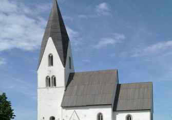Tofta Church, one of the island's many iconic, well-preserved medieval churches.