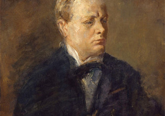 Portrait of Churchill by Ambrose McEvoy