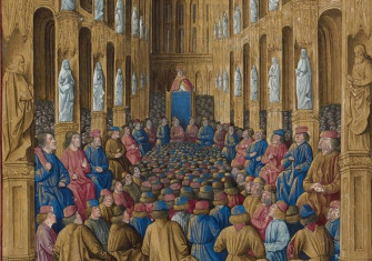 Pope Urban II at the Council of Clermont