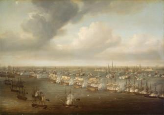 Nicholas Pocock - The Battle of Copenhagen, 2 April 1801