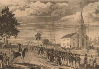Illustration of the Demerara rebellion of 1823