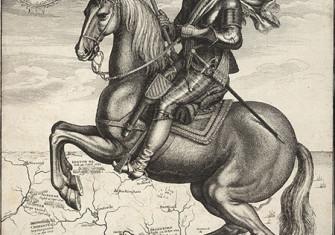 Robert Devereux depicted as Captain General on horseback, an engraving by Wenceslas Hollar