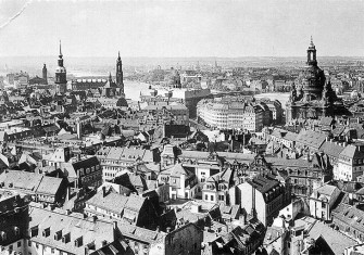 A view from the town hall over the Altstadt (old town), 1910