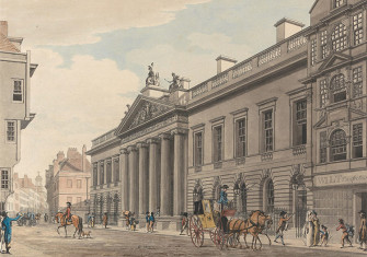 East India House, London, painted by Thomas Malton in c.1800.