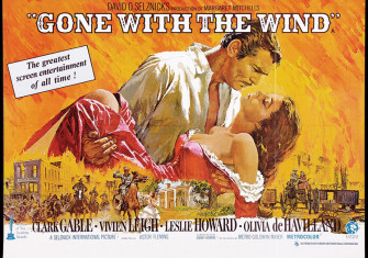 1939 US poster for Gone with the Wind