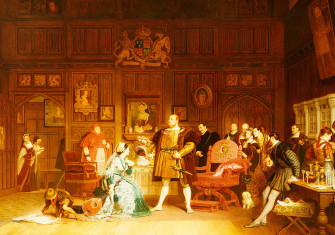 Henry VIII and Anne Boleyn Observed by Queen Katherine (1870), by Marcus Stone.