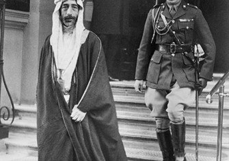 Betrayed by the British: King Feisal of Iraq on a visit to to London, November 1927.