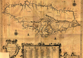English map of Jamaica, 1600s