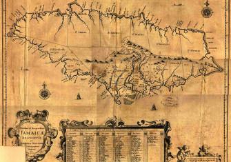 English map of Jamaica, 1600s