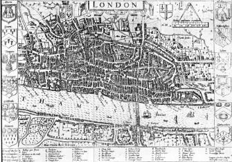 Map of London, 1593