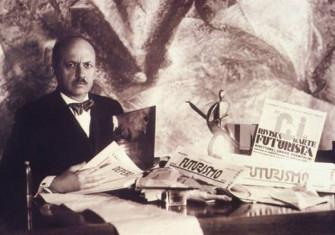 Filippo Tommaso Marinetti, Italian modernist author of the Futurist Manifesto (1908) and later the co-author of the Fascist Manifesto (1919)