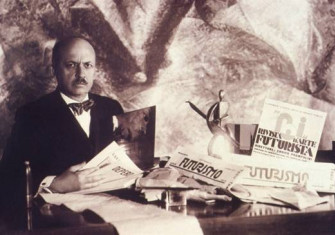 Filippo Tommaso Marinetti, Italian modernist author of the Futurist Manifesto (1908) and later the co-author of the Fascist Manifesto (1919)