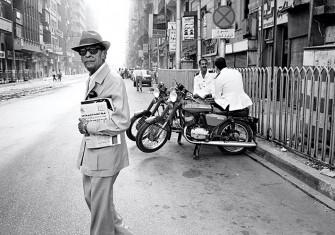 Moral quandary: Naguib Mahfouz in Cairo, 1989.