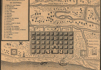 Map of New Orleans, 1728.