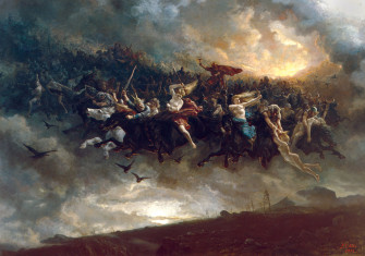 The Wild Hunt of Odin, by Peter Nicolai Arbo, 1872, National Gallery, Oslo.