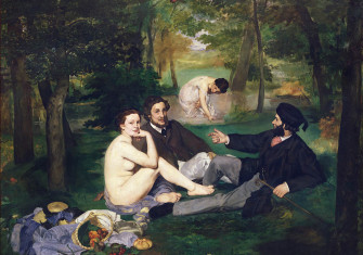 Cold meats: Le Déjeuner sur l'herbe, by Édouard Manet, 1863 © Bridgeman Images