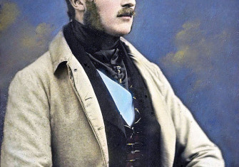 Early hand-coloured daguerreotype of Prince Albert, 1848