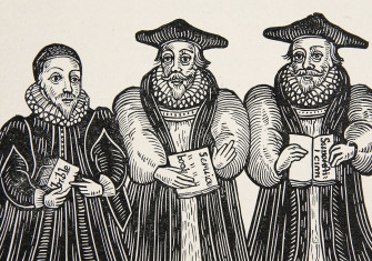 Triple Episcopacie, a puritan satire on Archbishop Laud, 1641.