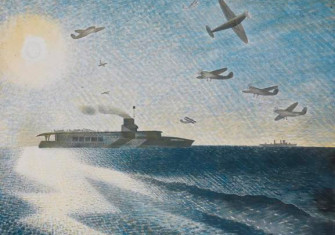 HMS Glorious in the Arctic, by Eric Ravilious, 1940.