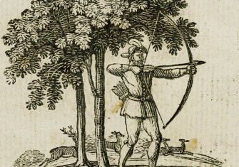 The outlaw with his bow, from Robin Hood, 1795.
