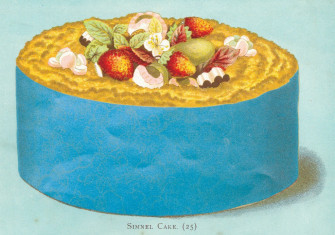 Victorian Easter simnel cake, 1893.