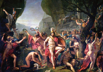 Jacques-Louis David Leonidas at Thermopylae, 480 BC (1814), Louvre, Paris.