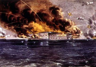 Bombardment of Fort Sumter by Currier & Ives (1837–1885).