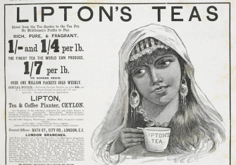Advertisement for tea in The Illustrated London News, September 1892