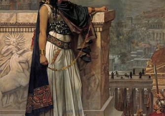 Queen Zenobia's Last Look Upon Palmyra, by Herbert Gustave Schmalz. Original on exhibit, Art Gallery of South Australia, Adelaide.