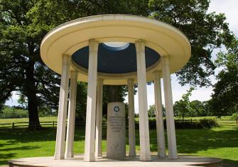 The American Bar Association's Magna Carta memorial at Runnymede.