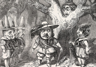 Scene from The Pantomime of Oliver Cromwell, 19th century