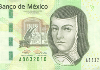 The 200 peso note, featuring Juana Inés de la Cruz (1992-present)