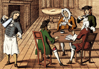 Advertisement for London coffeehouse, c.1700 © Bridgeman Images.