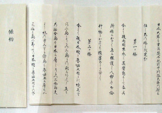 Peace process: the Treaty of Commerce and Navigation between Japan and Russia, 7 February 1855