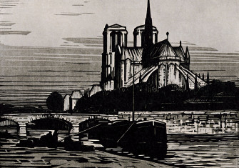 The sound of silence: 'Notre-Dame de Paris', by Alfred Latour, from Modern Woodcuts and Lithographs by British and French Artists,  by Geoffrey Holme, 1919 © Getty Images