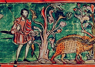 Common concerns: tending the boar. Calendar page, c.1030