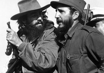 Castro (right) with fellow revolutionary Camilo Cienfuegos, 8 January 1959.