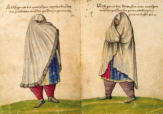 A new life: a moorish woman in Granada, from Christoph Weiditz's Trachtenbuch, 1530s.