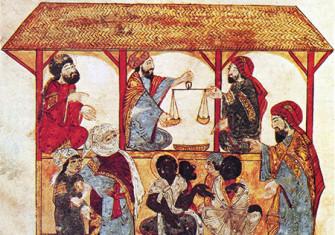 Souls for sale: the slave market at Zabid, Yemen, by Yahya ibn Mahmud al-Wasiti, 1237