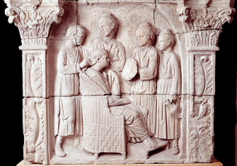 Mistress and servants: the Neumagen relief, Trier, Germany, c.AD 200