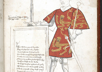 Transitory power: Henry I in 'Sir Thomas Holme's Book of Arms', English, 15th century